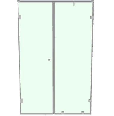 Душевая перегородка в нишу с распашной стеклянной дверью