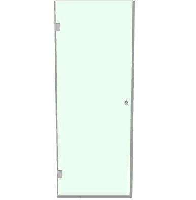 Душевая стеклянная дверь в нишу