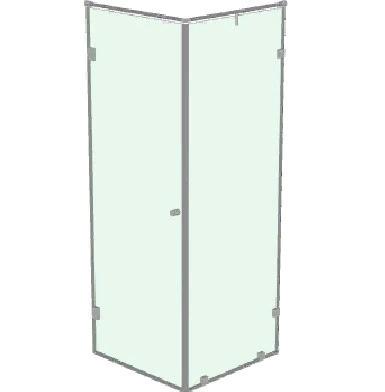 Душевой уголок с распашной дверью