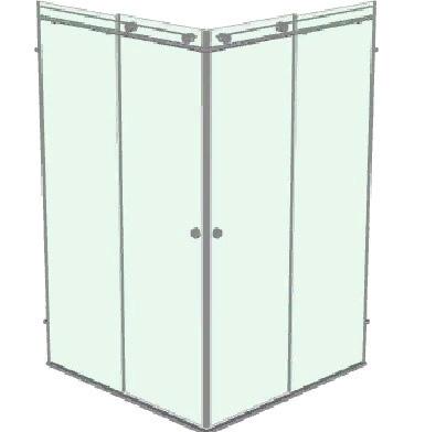 Душевой уголок с откатной дверью или двумя дверьми