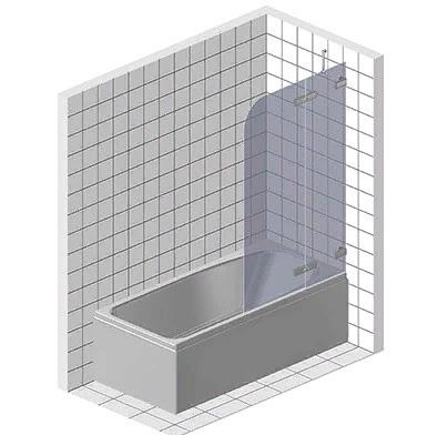 Стеклянный экран на ванну с дверью
