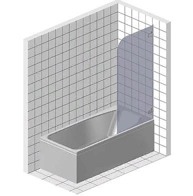 Шторка и экран на ванну из стела