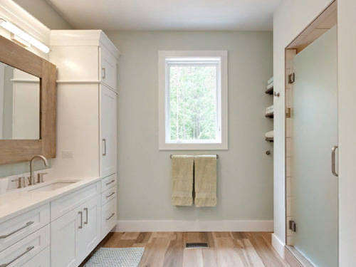 Фото дизайн ванной комнаты в частном доме