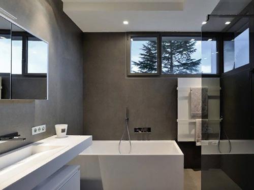 Дизайн оформления ванной комнаты в коттедже