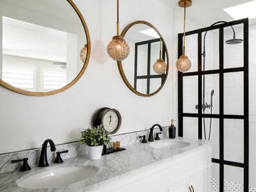Фото новой европейской планировки ванной комнаты