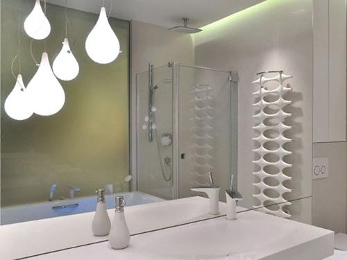 Дизайн макет ванной комнаты в стиле Хайтек