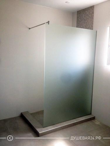 Стеклянная перегородка из матового стекла