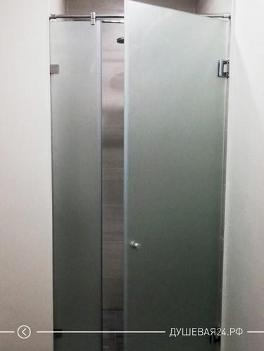 Душевая перегородка в ванную комнату из матового стекла