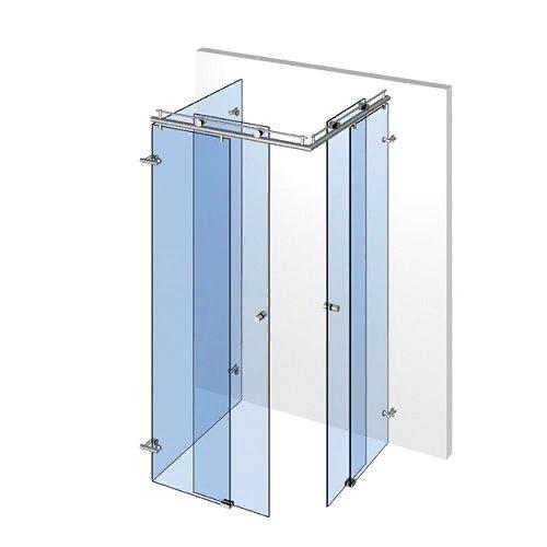 Комплект 8566 раздвижной системы для стеклянных душевых